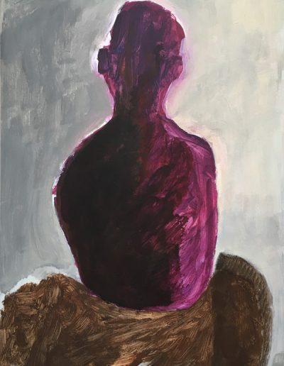 Figur in violett und braun