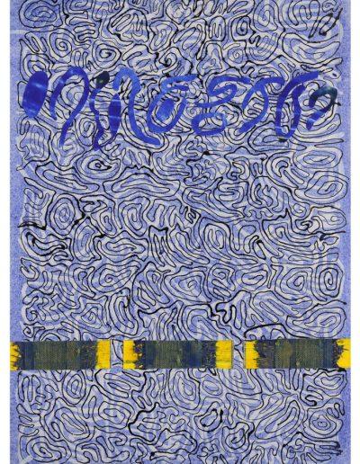 Muster auf Blau